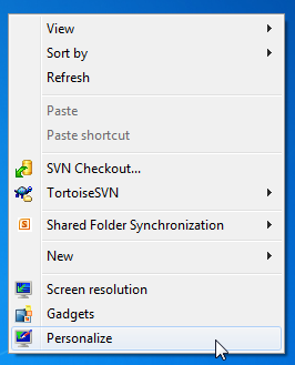 how do you change icons on windows 7