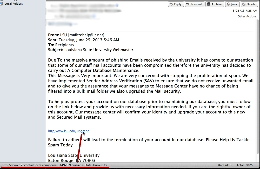Check It Before You Click It - Phishing, Malicious Links
