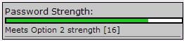 the Option 2 (green) for Password Strength.