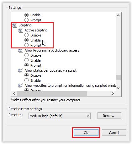 Microsoft ie 11 enable javascript grok knowledge base scripting drop down options ccuart Images