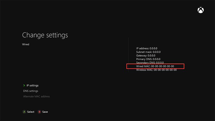 Image result for xbox one MAC address