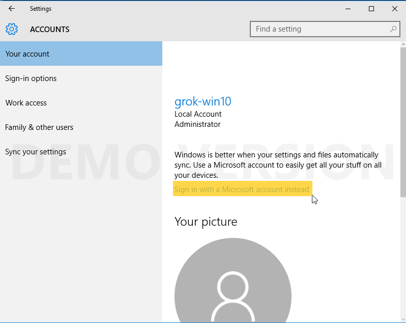 Windows 10: Sign In with a Microsoft Account - GROK Knowledge Base