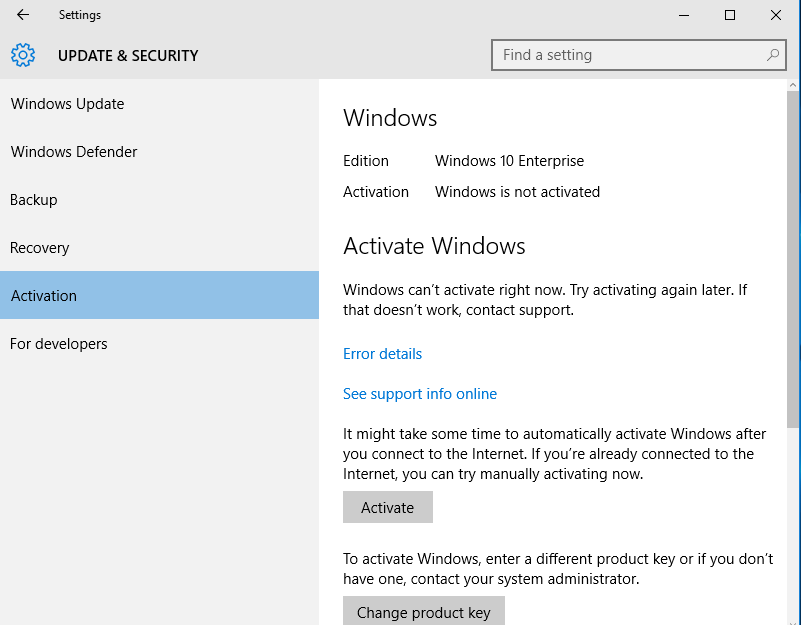 Windows 10 enterprise activating windows 10 on campus grok windows 10 activate button on right side ccuart Choice Image