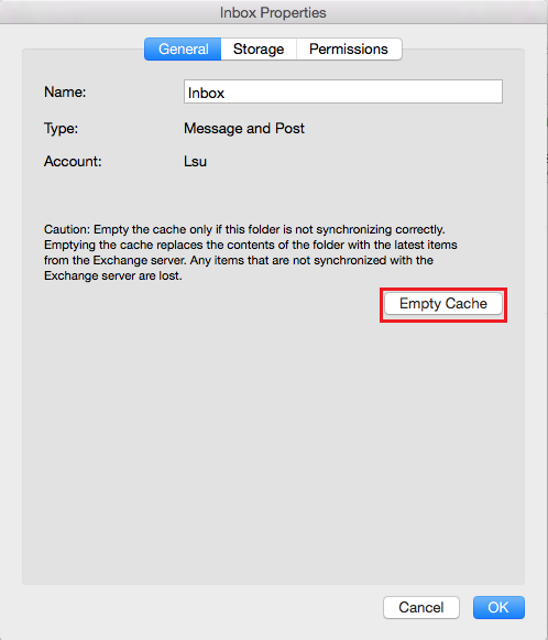 Outlook 2016 (Mac): Clear the E-mail Cache - GROK Knowledge Base