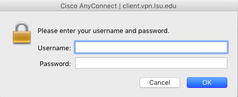 AnyConnect Client asking to enter paws ID and password